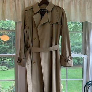 Women's Vintage Burberry Wool Lined Trench Coat